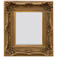 """A French Baroque Louis Quatorze Style, 7.5""""w Oversized Frame, Medium 42""""t Drama Bevel Glass Antiqued Gold Mirror, 6969"""