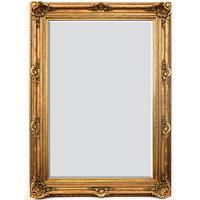 """A Fancy French Baroque Louis Quatorze Style, 7.5""""w Oversized Frame Palace 86""""t x 62""""w Drama Bevel Glass Dorado de Oro Gold Mirror, 6964"""