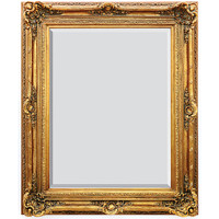 "A French Baroque Louis Quatorze Style, 7.5""w Oversized Frame, Extra Large 64""t Drama Bevel Glass Dorado de Oro Gold Mirror, 6965"