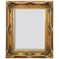 "A French Baroque Louis Quatorze Style, 7.5""w Oversized Frame, Large 55""t Drama Bevel Glass Dorado de Oro Gold Mirror, 6967"