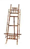 An Iron Bamboo, 16 Inch Table or Counter Top Easel, Antiqued Gold Finish
