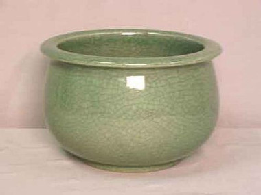Celadon Decorator Crackle - Luxury Handmade Chinese Porcelain - 8 Inch Orchid Planter Style B621