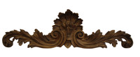 "Rocaille Coquille, Classic Elements, 40"" Rocaille Shell Wall Plaque Over Door Pediment, Custom Finish"