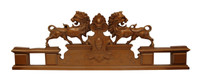 """La Paire de Lion de régence, Classic Elements 37"""" Regency Lion Pair Wall Plaque Over Door Pediment, Custom Finish"""