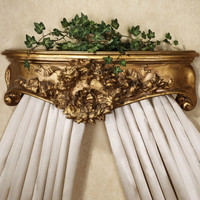 """Classic Elements, Couronnes floraux et Rubans, 24"""" Florals Wreaths and Ribbons Bed Canopy Crown 