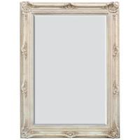 A Rococo Louis XV - 87t X 64w Bevel Glass - European Style Floor Mirror - Shabby Chic White Finish, 6915