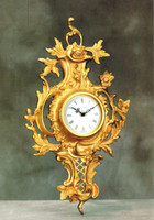 """French Rococo, Louis XV 18.81"""" Wall Clock, French Gold Gilt - Handmade Reproduction of a 17th, 18th Century Dore Bronze Antique, 4017"""