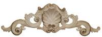 "Rocaille Coquille, Classic Elements, 35"" Rocaille Shell Wall Plaque Over Door Pediment, Custom Finish 6901 - Classic Elements - Rocaille Coquille"