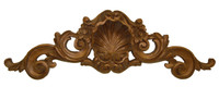 "Rocaille Coquille, Classic Elements, 35"" Rocaille Shell Wall Plaque Over Door Pediment, Custom Finish"
