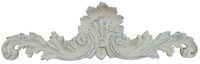 "Rocaille Coquille, Classic Elements, 40"" Rocaille Shell Wall Plaque Over Door Pediment, Shabby Chic Custom Finish"
