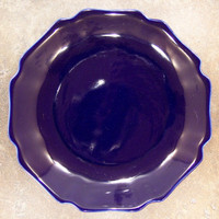 Cobalt Blue Decorator Solid, Luxury Handmade Chinese Porcelain, 8 Inch Decorative Display Plate Style 811