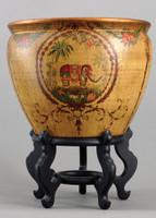 Majestic Elephant, Luxury Hand Painted Porcelain, 18 Inch Fish Bowl | Planter