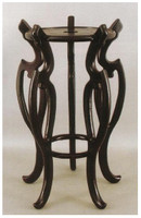 Stands for Porcelain, 22 Inch Tall High Wooden Stand, 9.25 Inch Seating Surface