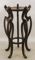 Stands for Porcelain, 27 Inch Tall High Wooden Stand, 10 Inch Seating Surface