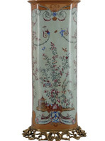 Fantasia Pattern, Luxury Hand Painted Chinese Porcelain and Gilt Brass Ormolu, 24 Inch Vase
