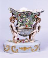 A Meissen Style Tabletop, 10t X 9w X 4d Porcelain Vase