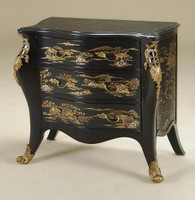 Hand Painted and Gilt Bronze Ormolu - 37 Inch Accent | Entry - Chinoiserie Design