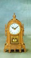 Imperial Handmade Fancy Gilt Brass Ormolu 11.81 Inch Italian Clock, French Gold Finish