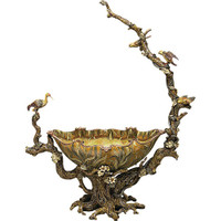 Luxe Life Organic Nature Scene, 32 Inch Bowl | Centerpiece Bowl, Hand Painted