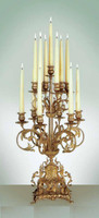 Handmade in Italy - Imperial Ornamental d'Oro Ormolu - Italian Made 13 arm Candelabrum - Choose Your Finish - 25.5t X 14.5d X 14.5w