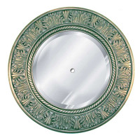 "Classic Elements 29"" Round Beveled Glass Mirrored Reproduction Ceiling Medallion, Custom Finish"