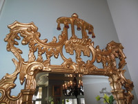 A Classic Elements 62t X 31w x 4d Rectangular Shape Beveled Glass Chinese Chippendale Reproduction Mirror, Custom Finish