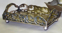 Brass Scroll Guest Towel Tray - Antique Bronze Finish - Set of Two