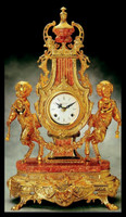 Imperial 24K Gold Gilt Finish shown on Marble and Brass Clock #9