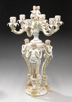A Meissen Style Tabletop, 26 Inch Porcelain Candelabrum