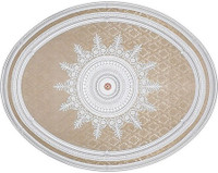 "Architectural Accents - White Damask 79""L x 63""w x 3"" thick, 1287 Oval Decorative Ceiling Medallion"