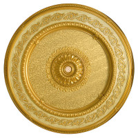 "Architectural Accents Filigree Scroll - 1275 Round Gold Gilt Decorative Ceiling Medallion - 59"" Diameter X 3"" thick"