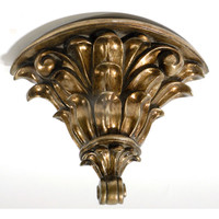 Architectural Accents, Burnished Gilt 14 Inch Decorative Wall Bracket Sconce
