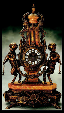 Imperial Bronzed Gilt Finish shown on Brass and Marble Clock #9