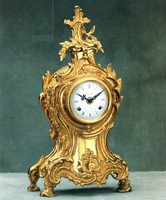 Handmade in Italy - Imperial Ornate d'Oro Ormolu - Shelf, Mantel, or Desk, Italian Made Clock, Louis XV, Rococo - Choose Your Finish - 17.32t X 5.11d X 9.84w