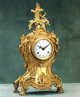 Ornate d'Oro Ormolu - Mantel, Table, or Desk Clock, Louis XV, Rococo - Choose Your Finish - Handmade Reproduction of a 17th, 18th Century Dore Bronze Antique, 6674