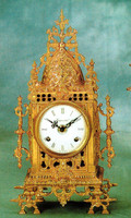 Handmade in Italy - Imperial Ornate d'Oro Ormolu - Shelf, Mantel, or Desk, Italian Made Clock - Choose Your Finish - 14.17t X 3.54d X 7.48w