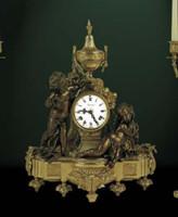 Handmade in Italy - Imperial Ornate d'Oro Ormolu - Shelf, Mantel, or Desk, Italian Made Clock - Louis XV, Rococo - Choose Your Finish - 19.29t X 7.87d X 16.53w