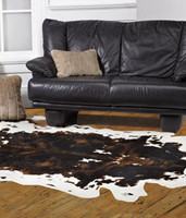 Cowhide Faux Skin Rug - Natural Look and Authentic Shape - 56 Inches X 93 Inches