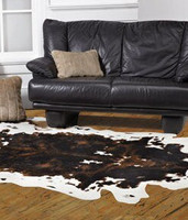 Cowhide Faux Skin Rug - Natural Look and Authentic Shape - 56 Inches X 93 Inches, 6645