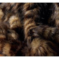 "Dark Spotted Wolf Faux Fur Throw - Natural look & Luxuriously Soft - Large 58"" X 59"""
