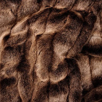 "Red Fox Faux Fur Throw - Natural look & Luxuriously Soft - Large 58"" X 59"""