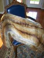 "Golden Fox Faux Fur Throw - Natural look & Luxuriously Soft - Large 58"" X 59"""
