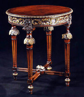 French Neo Classical Louis XVI Carved & Gilded - 29 Inch End Table