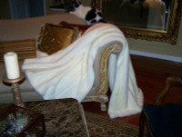 """Winter White Mink Faux Fur Throw - Natural look & Luxuriously Soft - Oversized 58"""" X 83"""""""