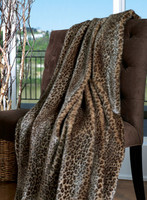 "Javan Leopard Faux Fur Throw - Natural look & Luxuriously Soft - Oversized 58"" X 83"""