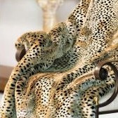 "Cheetah Faux Fur Throw - Natural Look & Luxuriously Soft - Oversized 58"" X 83"""
