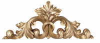 Classic Elements, 16L x 5.25t Wall Plaque Over Door Pediment, Choose Your Finish, Goldleaf