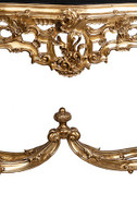 ***Lyvrich d'Elegance, Gilded Dior Ormolu and Marble | Entry Console | Sofa Table | French Furniture | 34t X 57L X 21.25d | 6351