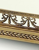 """***Lyvrich Objet d'Art, Extra Large Handmade Mirrored Centerpiece Tray, Stage Theme, decorated with Swags, Garlands, Tassels,, D'oro Ormolu,, 3.14""""t X 34.64""""L X 20.07""""d, 6540"""