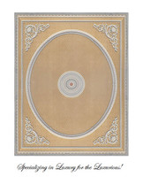"Architectural Accents Damask Pattern, 6729 Classical Theme Rectangular Ceiling Medallion, 10'L X 8'w X 3.5"" Thick"